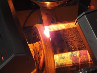 Laser cladding of the cylindrical parts