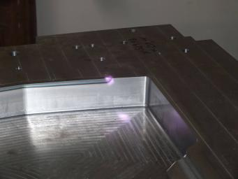 Laser hardening of the mold cutting edges