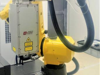 Mobile laser hardening workplace