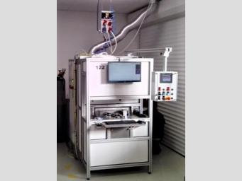 Single-purpose machine for laser welding of parts